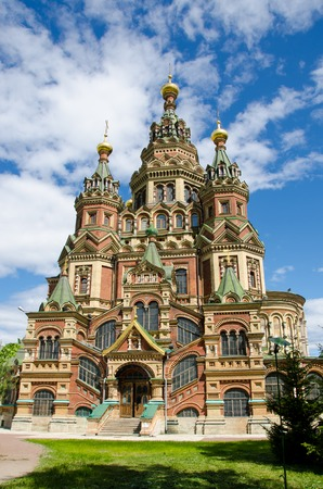 saints peter and paul: Cathedral of Saints Peter and Paul in Peterhof near Saint-Petersburg, Russia
