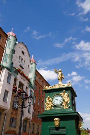 Clock - barometer, Malaya Konyushennaya Street, Saint -Petersburg, Russia