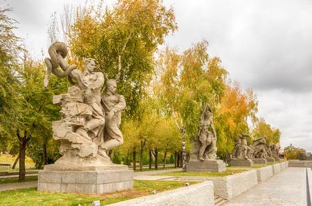 Volgograd. Historical memorial complex Mamayev Kurgan