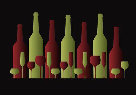 wine list concept background Illustration