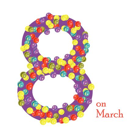 polymer: 8 March from glass beads