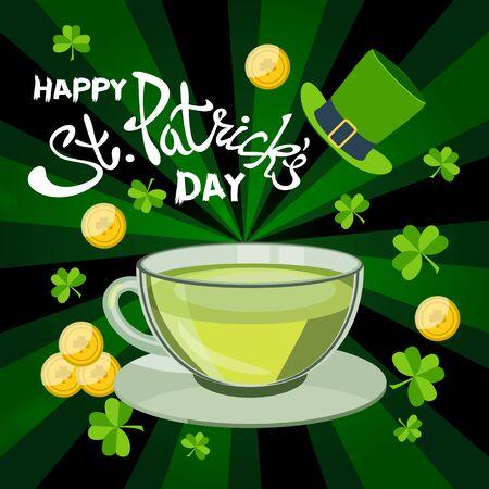 Happy St. Patricks Day greeting. Lettering St. Patricks Day on