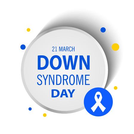 Down syndrome illustration, white background.
