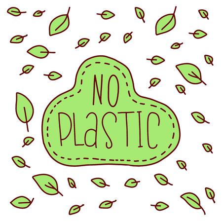 Zero waste. Vector hand drawn Zero waste posters.  Zero waste set. Vector illustration. No plastic. Zero waste. Eco lifestyle. Vector illustration. Seamless pattern. Stock Vector - 114946872