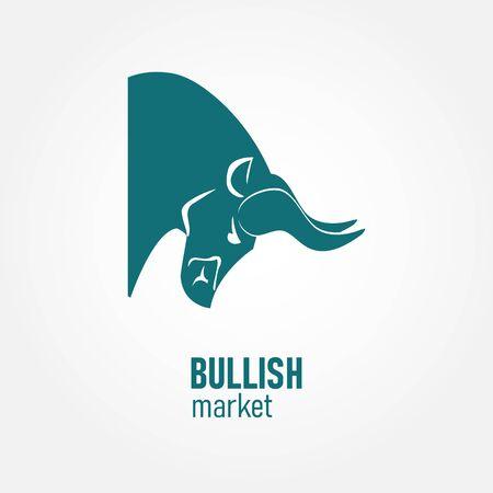 Bullish market. The chart and the indicator show an uptrend. Vector illustration. Иллюстрация