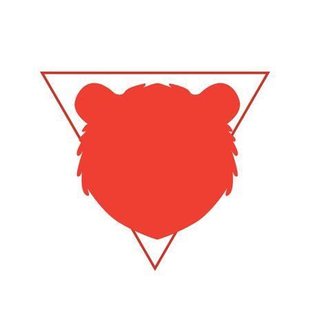 Bear market. Bear and red arrow. Stock market vector illustration. Illustration