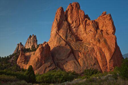 denver colorado: Early morning light at Garden of the Gods, in Colorado Springs
