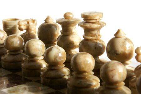 chessmen: Chessmen isolated on the white background Stock Photo
