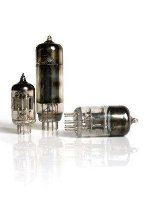 Radio lamp isolated on the white background photo