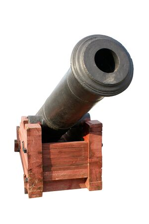 Old cannon isolated on the white background photo