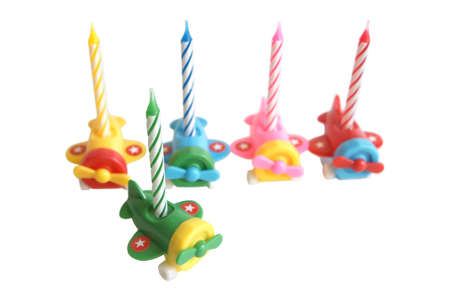 Birthday candles isolated on a white background Stock Photo - 5665372