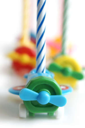 Birthday candles on a white background Stock Photo - 5680859