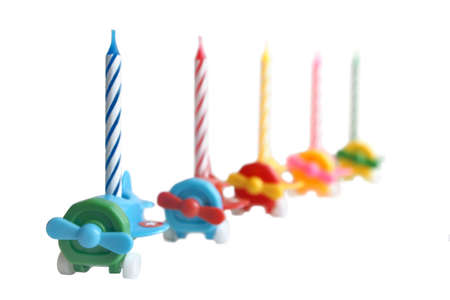 Birthday candles isolated on a white background Stock Photo - 5680857
