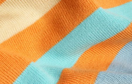 Background of striped knitted fabric photo