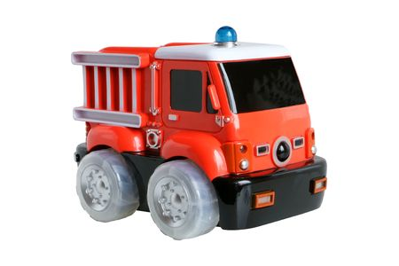 Fire-engine toy isolated on the white background Stock Photo - 6062353