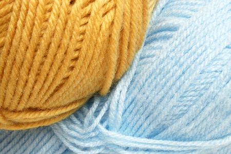Closeup of hanks wool, for backgrounds or textures photo