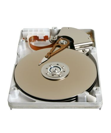 Hard disk isolated on the white background photo