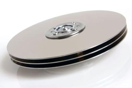 terabyte: Hard disk detail on white background