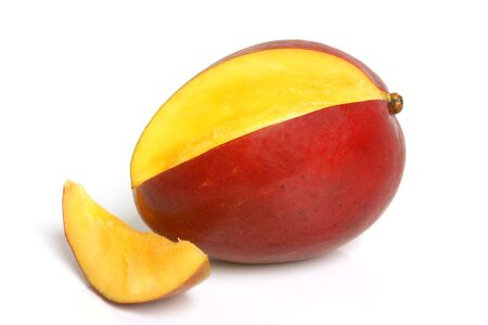 mangoes: Mango on the white background
