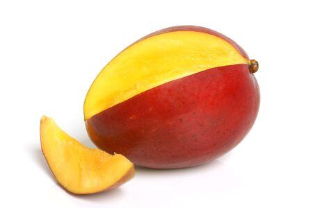 Mango on the white background photo