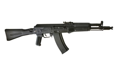 AK-105 machine gun isolated on the white background photo
