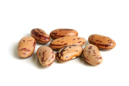 Haricot beans on a white background Stock Photo - 6418402