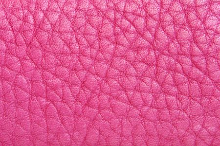 Natural pink leather background closeup Stock Photo - 6652396