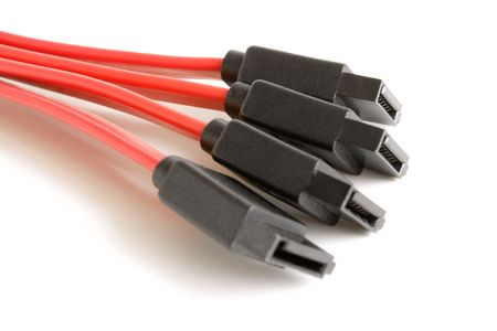sata: Sata cable on a white background