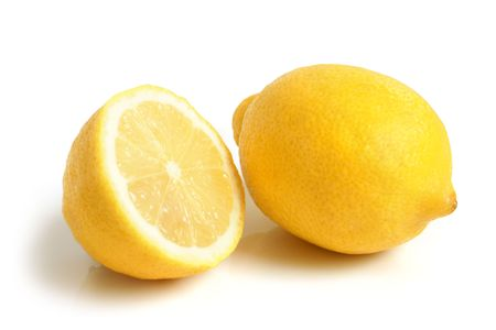 organic lemon: Lemon on the white background