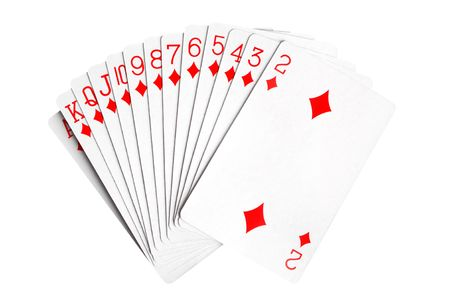 vehemence: Playing cards isolated on the white background