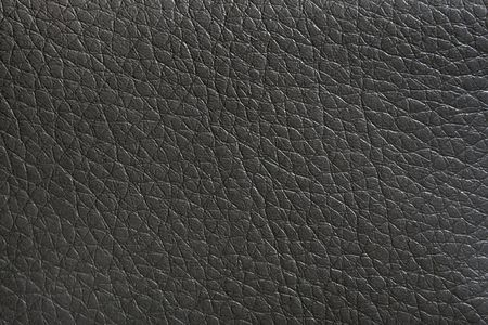 Natural black leather background closeup Stock Photo - 6725734