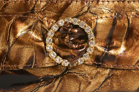 Natural leather with decoration, for backgrounds or textures photo
