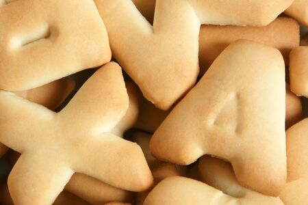 Close-up of cookies, for backgrounds or textures photo