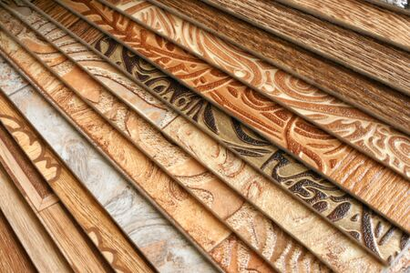 The samples of collection natural linoleum Stock Photo - 6952802
