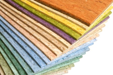 The samples of collection multicolored linoleum photo