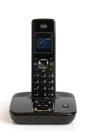 Dect cordless phone on a white background Stock Photo - 7022281
