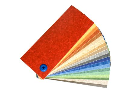 The samples of collection multicolored linoleum isolated on a white background photo