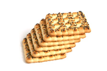 Cookies with poppy-seed on a white background Stock Photo - 7083374