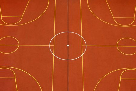 leisure centre: The orange sports ground, for backgrounds or textures