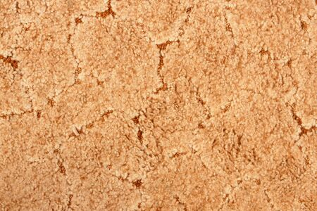 A beige carpet texture, close-up photo