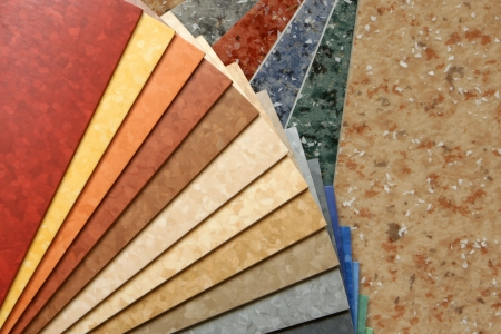 The samples of collection natural linoleum Stock Photo - 7429506