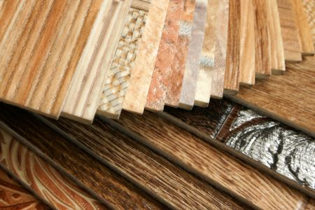 The samples of collection natural linoleum Stock Photo - 7516928