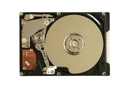 Hard disk isolated on the white background Stock Photo - 7664588