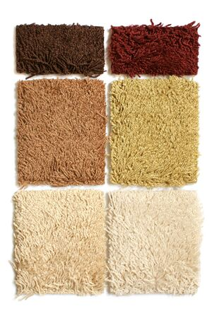 carpet flooring: Samples of collection carpet on a white background Stock Photo