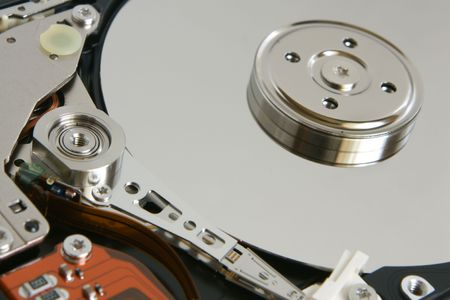 Hard disk detail, a horizontal picture photo