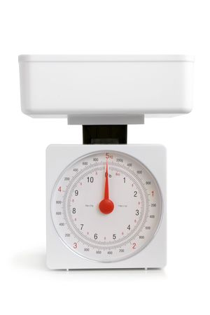 Kitchen scale on a white background Stock Photo - 7752266