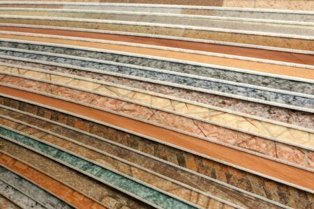 The samples of collection natural linoleum Stock Photo - 7752275