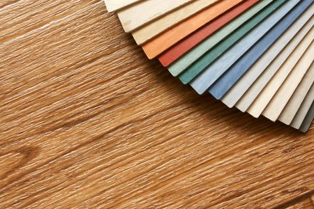 linoleum: The samples of collection natural linoleum Stock Photo