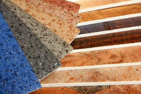 The samples of collection natural linoleum Stock Photo - 7752324