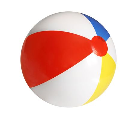 rubber ball: Beach ball isolated on white background